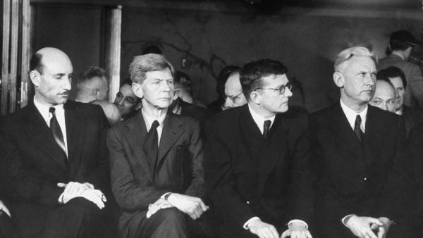 Russian composer Dmitri Shostakovich (2nd to the right)