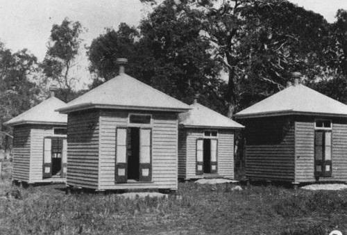 Huts_constructed_for_patients_on_Peel_Island_Moreton_Bay_1907