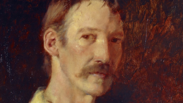 Girolamo Nerli, portrait of Robert Louis Stevenson. Image: Google Art Project