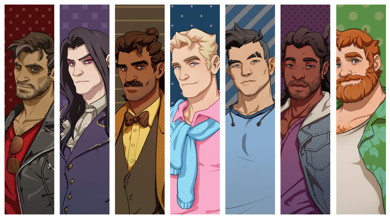 Dream Daddy characters. Image: © GameGrumps